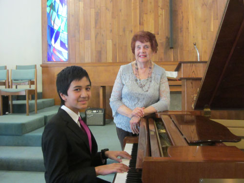 Adrian's student Jahan playing at MTAC recital in January