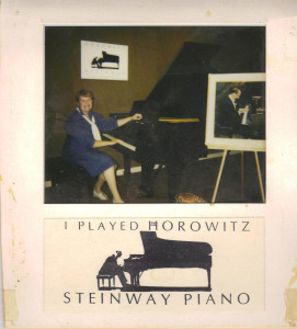 "Adrian Plays Piano - The ""Horowitz"" piano was being shown at the Steinway gallery"